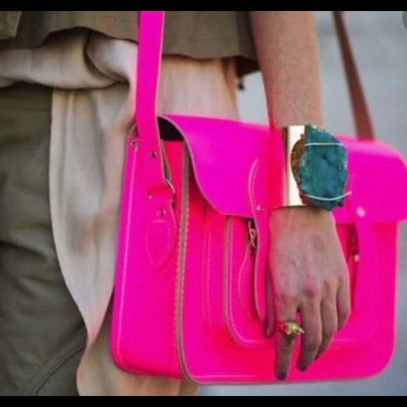The cambridge satchel neon pink